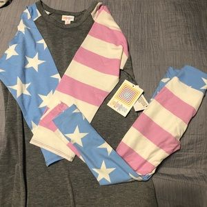 Lularoe patriotic mommy and me